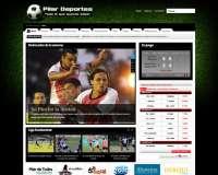 Diseño web de sitio deportivo Pilar Deportes