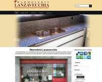Diseño web de Marmolería Lanzavecchia